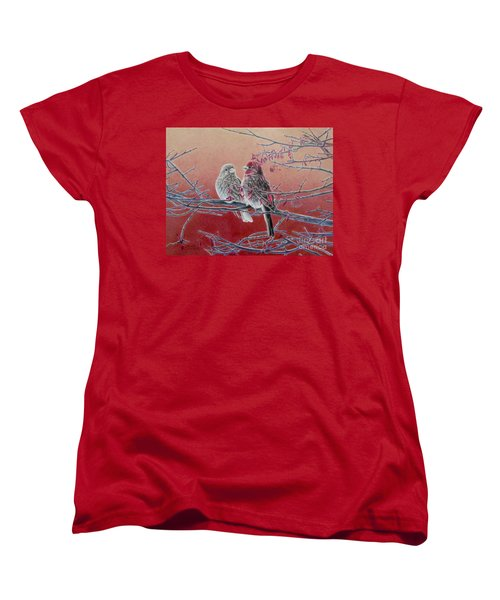 Forever Finch Women's T-Shirt (Standard Cut) by Pamela Clements