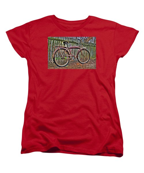 Women's T-Shirt (Standard Cut) featuring the photograph Forgotten Ride 1 by Jim and Emily Bush
