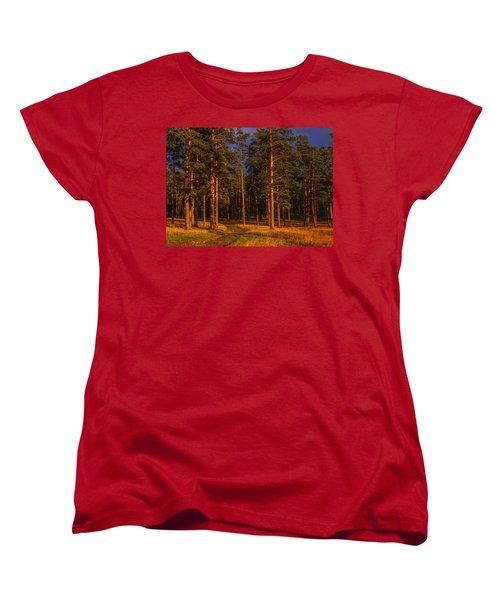 Women's T-Shirt (Standard Cut) featuring the photograph Forest After Rain Storm by Vladimir Kholostykh