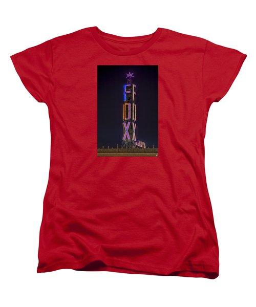 Women's T-Shirt (Standard Cut) featuring the photograph Fox Theatre Detroit by Nicholas  Grunas