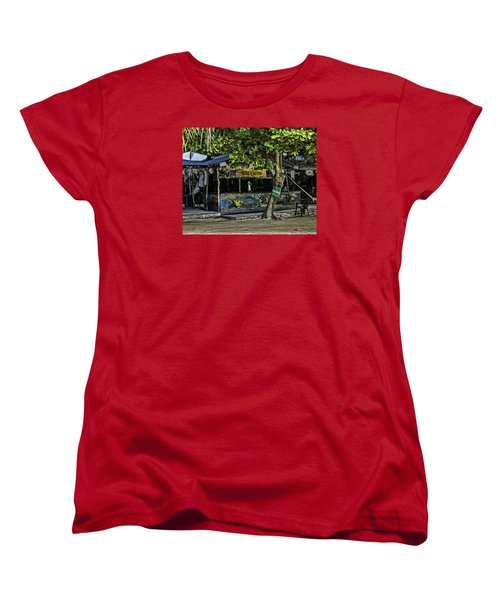 Foxy's On Jost Van Dyke Women's T-Shirt (Standard Cut) by Gordon Engebretson
