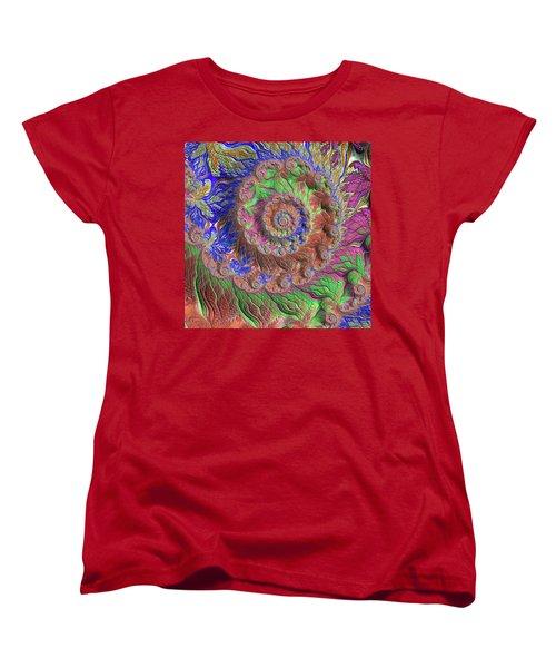 Women's T-Shirt (Standard Cut) featuring the digital art Fractal Garden by Bonnie Bruno