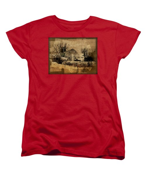 Fragmented Barn  Women's T-Shirt (Standard Cut) by Julie Hamilton