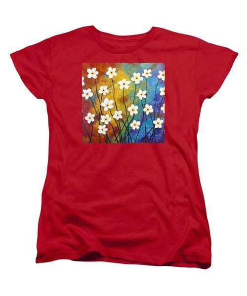 Frangipani Explosion Women's T-Shirt (Standard Cut) by Teresa Wing