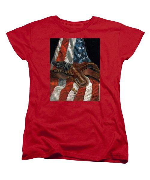 Freedom Women's T-Shirt (Standard Cut) by Billie Colson