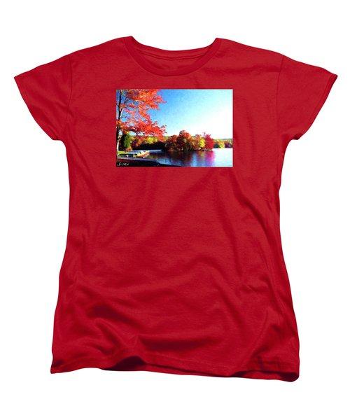 French Creek Fall 020 Women's T-Shirt (Standard Cut) by Scott McAllister