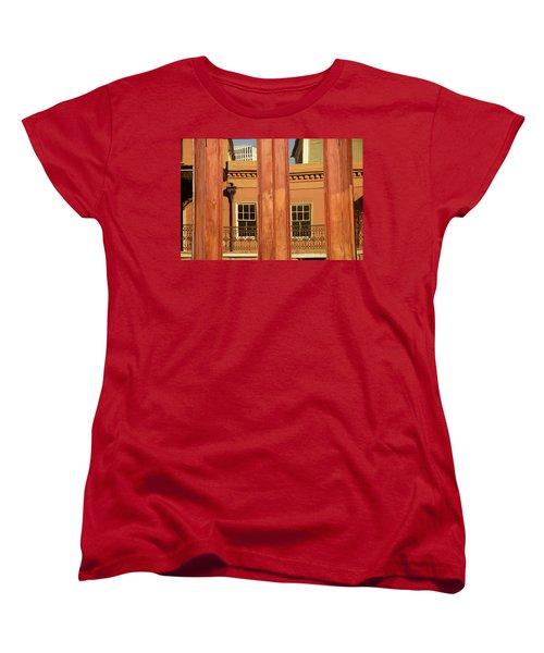Women's T-Shirt (Standard Cut) featuring the photograph French Quarter Reflection by KG Thienemann