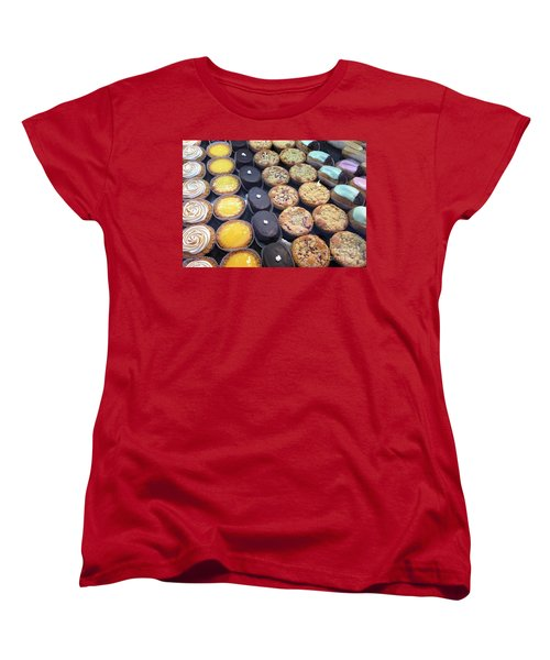 Women's T-Shirt (Standard Cut) featuring the photograph French Tarts by Therese Alcorn