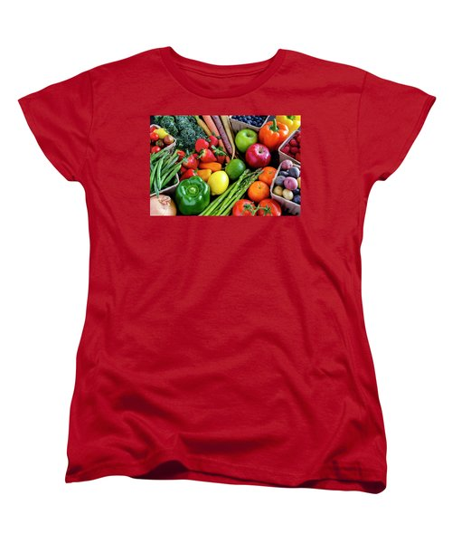 Fresh From The Farm Women's T-Shirt (Standard Cut) by Teri Virbickis