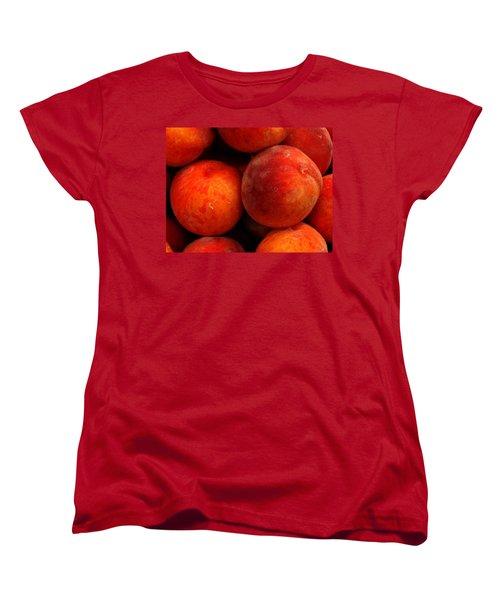 Fresh Fuzzy Peaches Women's T-Shirt (Standard Cut) by Ian  MacDonald