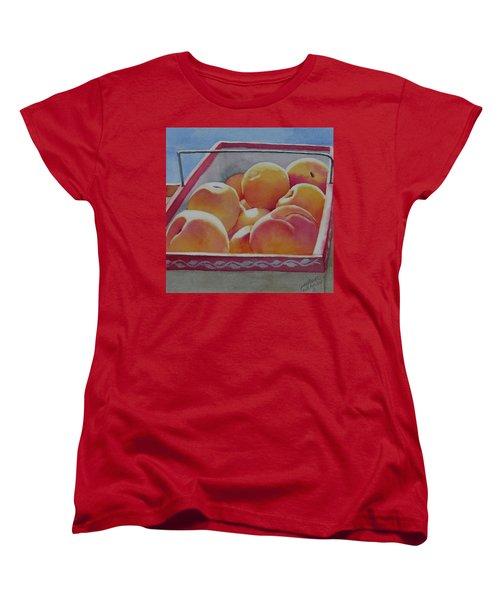 Fresh Peaches Women's T-Shirt (Standard Cut) by Judy Mercer