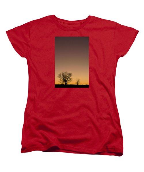 Women's T-Shirt (Standard Cut) featuring the photograph Friends Awaiting Sunrise by Monte Stevens
