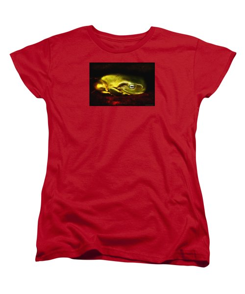 Women's T-Shirt (Standard Cut) featuring the photograph Frog Art 01 by Kevin Chippindall