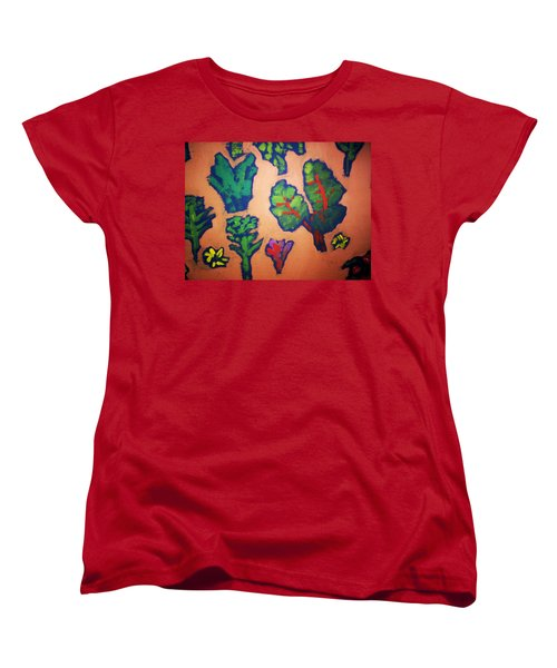 Women's T-Shirt (Standard Cut) featuring the painting From The Earth 2 by Winsome Gunning
