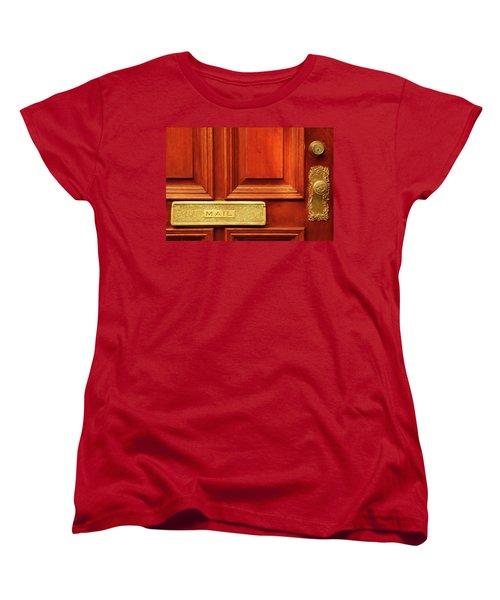 Women's T-Shirt (Standard Cut) featuring the photograph Front Door French Quarter by KG Thienemann