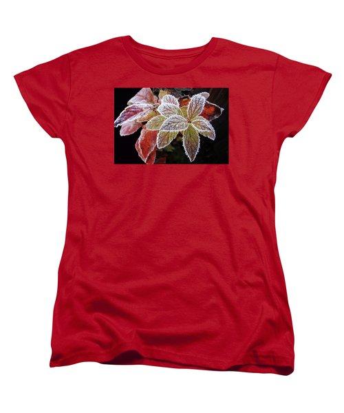 Frost Cluster Women's T-Shirt (Standard Cut) by Betsy Zimmerli