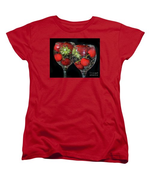 Women's T-Shirt (Standard Cut) featuring the photograph Fruits In Glass by Elvira Ladocki