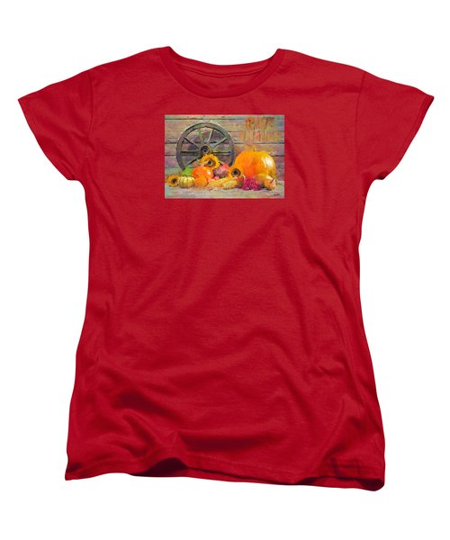 Women's T-Shirt (Standard Cut) featuring the painting Fruits Of Thanks by Wayne Pascall