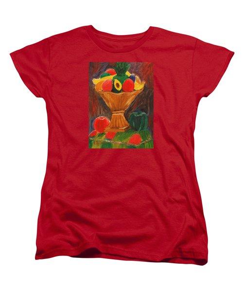 Fruits Still Life Women's T-Shirt (Standard Cut) by Jose Rojas