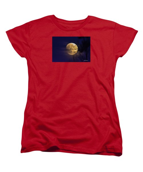 Full Moon Rise  Women's T-Shirt (Standard Cut) by Stephen  Johnson