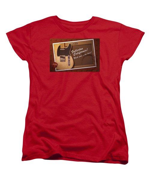 Women's T-Shirt (Standard Cut) featuring the digital art Fullerton Postcard by WB Johnston