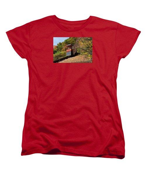 Funicular Descending Women's T-Shirt (Standard Cut) by Cindy Manero