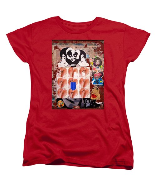 Funky New York Street Art  Women's T-Shirt (Standard Cut) by Funkpix Photo Hunter