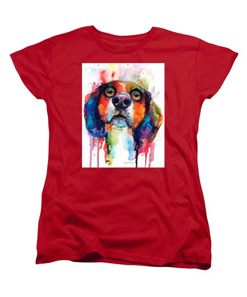 Funny Beagle Dog Art Women's T-Shirt (Standard Cut) by Svetlana Novikova