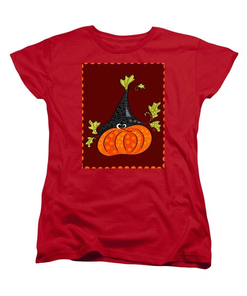 Women's T-Shirt (Standard Cut) featuring the painting Funny Halloween by Veronica Minozzi