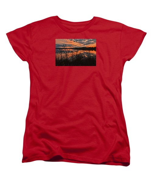 Gainesville Sunset 2386w Women's T-Shirt (Standard Cut) by Ricardo J Ruiz de Porras