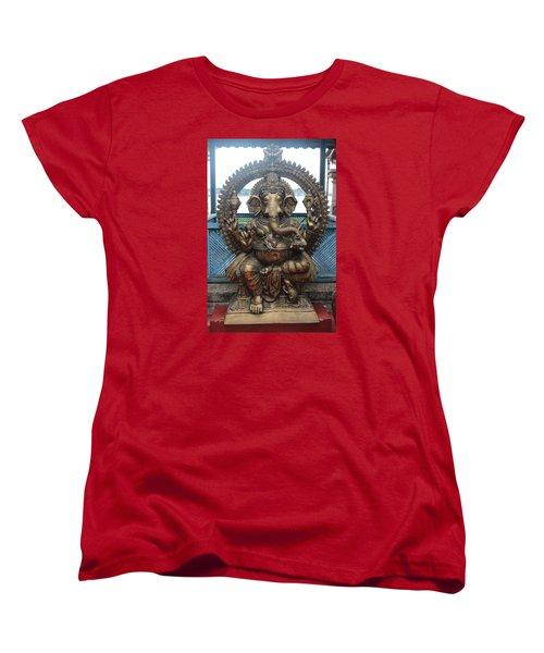 Ganapati Bronze Statue, Fort Kochi Women's T-Shirt (Standard Cut) by Jennifer Mazzucco