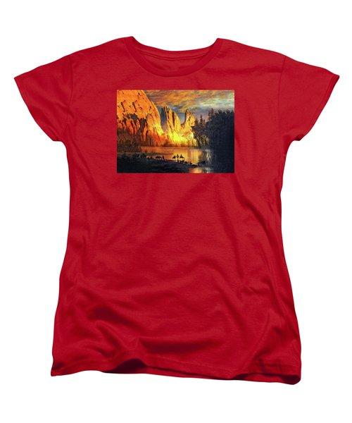 Garden Of The Gods Majesty At Sunset 2 Women's T-Shirt (Standard Cut) by John Hoffman