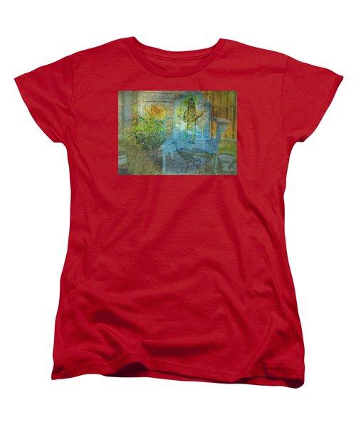Garden Party  Women's T-Shirt (Standard Cut) by Mary Ward
