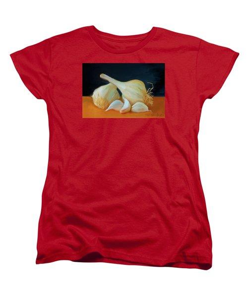 Garlic 01 Women's T-Shirt (Standard Cut) by Wally Hampton