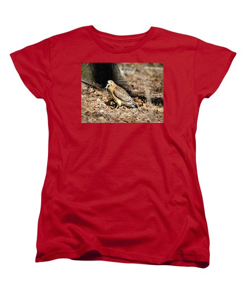Women's T-Shirt (Standard Cut) featuring the photograph Gecko For Lunch by George Randy Bass