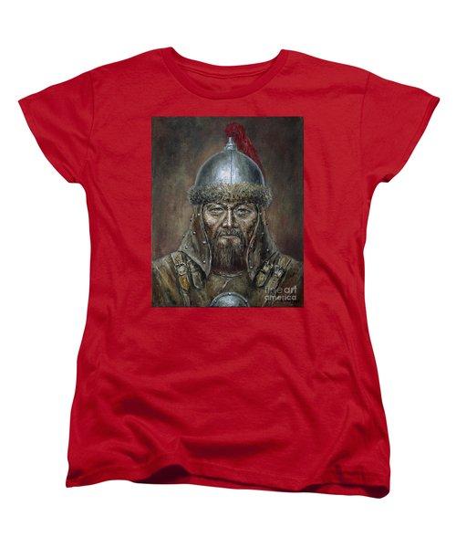 Genhis Khan Women's T-Shirt (Standard Cut) by Arturas Slapsys