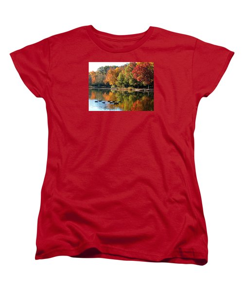 Women's T-Shirt (Standard Cut) featuring the photograph Gentle Reflections by Teresa Schomig