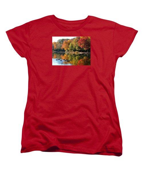 Gentle Reflections Women's T-Shirt (Standard Cut) by Teresa Schomig