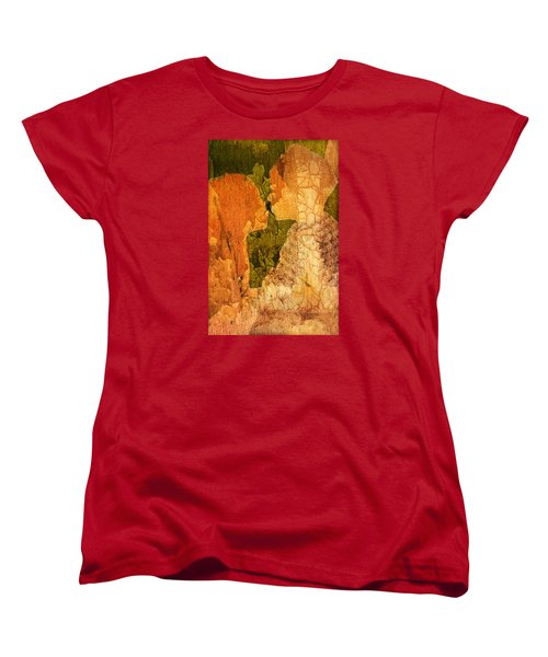 Women's T-Shirt (Standard Cut) featuring the digital art Gentle Sweet Kiss by Andrea Barbieri