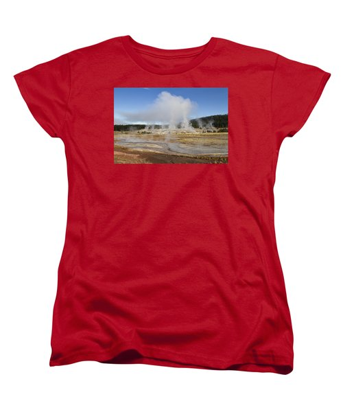 Gently Steaming Women's T-Shirt (Standard Cut) by Shirley Mitchell