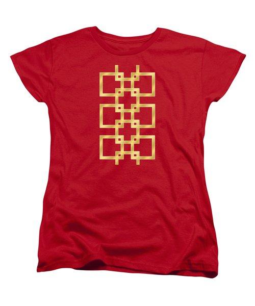 Geometric Transparent Women's T-Shirt (Standard Cut) by Chuck Staley