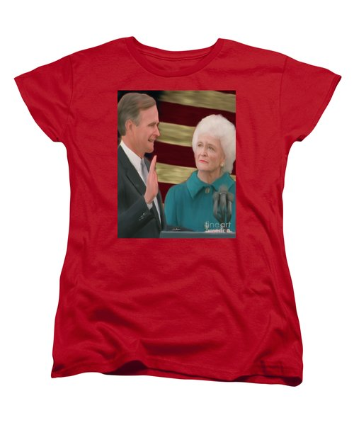 George Hw Bush Inauguration  Women's T-Shirt (Standard Cut) by Jack Bunds