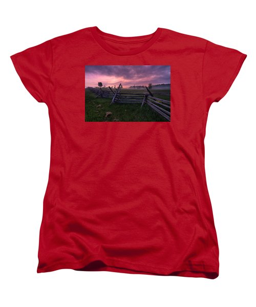 Gettysburg Mornings... Women's T-Shirt (Standard Cut) by Craig Szymanski