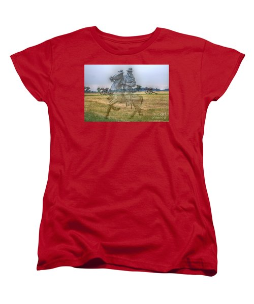 Ghost Of Gettysburg Women's T-Shirt (Standard Cut) by Randy Steele