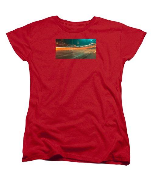 Ghostly Cars Women's T-Shirt (Standard Cut) by John Rossman
