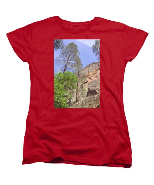 Women's T-Shirt (Standard Cut) featuring the photograph Giant Boulders by Art Block Collections