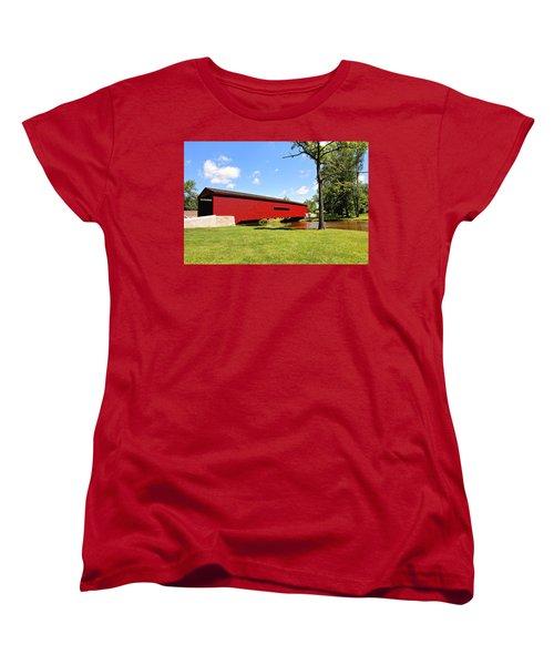 Gilpin's Falls Covered Bridge Women's T-Shirt (Standard Cut) by Trina  Ansel