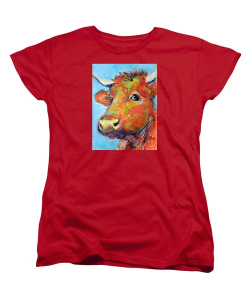 Women's T-Shirt (Standard Cut) featuring the painting Ginger Horn by Mary Schiros