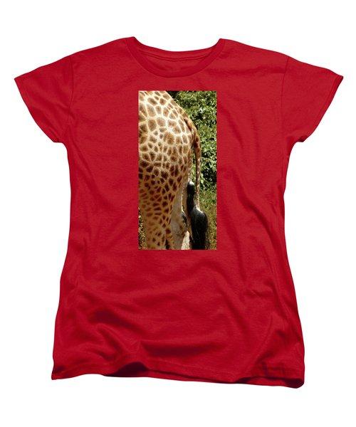 Giraffe Tails Women's T-Shirt (Standard Cut) by Exploramum Exploramum