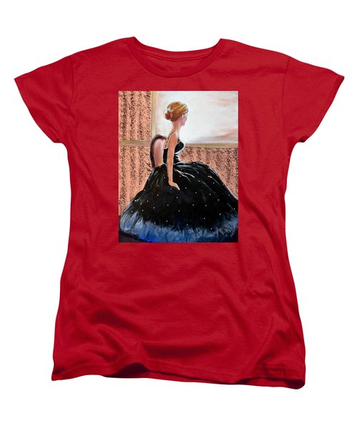 Girl In The Sequin Gown Women's T-Shirt (Standard Cut) by Gary Smith
